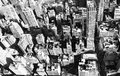Aerial new york city buildings in black and white Stock Images