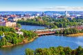 Aerial panorama of Helsinki, Finland Royalty Free Stock Photo