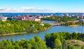 Aerial panorama of Helsinki, Finland Royalty Free Stock Photo