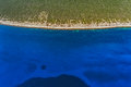 Aerial panorama of island olib in zadar area Royalty Free Stock Image