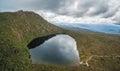Aerial Panorama Of Lake Esperance, Hartz Mountains National Park
