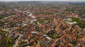 Aerial panorama shot of old town in capital of Lithuania, Vilnius Royalty Free Stock Photo