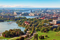 Aerial panorama of Stockholm, Sweden Royalty Free Stock Photography