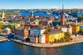 Aerial panorama of Stockholm, Sweden Royalty Free Stock Photo