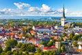 Aerial panorama of Tallinn, Estonia Royalty Free Stock Photo
