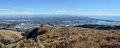 Christchurch City Aerial Panorama from top of Port Hills Royalty Free Stock Photo