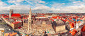 Aerial panoramic view of Old Town, Munich, Germany Royalty Free Stock Photo