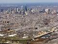 Aerial pennsylvania philadelphia view 库存图片