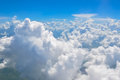 Aerial photo of clouds natural background Royalty Free Stock Image