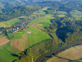 Aerial photo of countryside Stock Photography