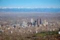 Aerial photo of downtown Denver, Colorado