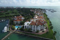 Aerial photo Fisher Island Royalty Free Stock Photo
