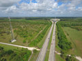 Aerial photo of the florida turnpike shop drone Royalty Free Stock Photography