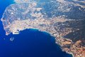 Aerial photo of the French Riviera Stock Photography