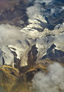 Aerial photo of the landscape in  Tibet Royalty Free Stock Image