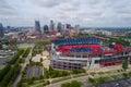 Aerial photo Nissan football stadium Royalty Free Stock Photo