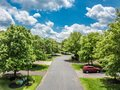 Quiet street in small american town Royalty Free Stock Photo