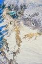 Aerial photo of Yellowstone Park Mammoth Royalty Free Stock Photo