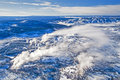 Aerial photo of Yellowstone Park Royalty Free Stock Photo