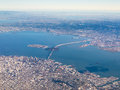 Aerial photograph of san francisco and the bay area Stock Photos