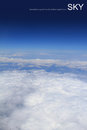 Aerial photography of atmosphere with clouds sky Royalty Free Stock Image