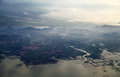 Aerial photography the beautiful land view from the airplane Stock Images
