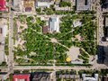 Aerial photography of a modern city park Royalty Free Stock Photo