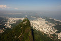 Aerial photography of Rio de Janeiro/Corcovado and Royalty Free Stock Photos