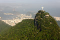 Aerial photography of Rio de Janeiro/Corcovado and Royalty Free Stock Photography