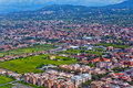 Aerial photography suburbs rome of city Stock Photos