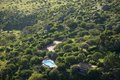 Aerial photos of overlooking lewa conservancy and lodging in kenya africa Stock Images