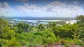 Aerial picture image of noosa from lookout heads national park look out Stock Image