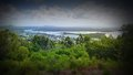 Aerial picture image of noosa river from lookout stock photograph Royalty Free Stock Image
