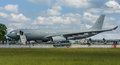 Aerial refuelling and transport airbus a mrtt multi role tanker transport berlin germany june defence space sas exhibition Royalty Free Stock Photos