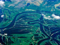 Aerial rivers of Russia Royalty Free Stock Photo