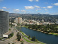 Aerial shot of Lake Merritt, Oakland Royalty Free Stock Photo