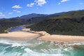 Aerial shot of natures valley in the garden route south africa Royalty Free Stock Photography