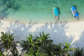 Aerial shot of tropical beach high angle a paradise Stock Photography