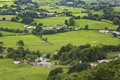 An Aerial Shot of the Welsh Countryside Royalty Free Stock Photo