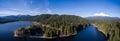 Aerial - Siskiyou Lake and Mount Shasta, California Royalty Free Stock Photo