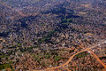 Aerial of slum housing Stock Photos