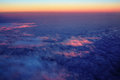 Aerial sunset clouds Royalty Free Stock Photo