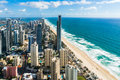 Aerial of Surfers Paradise city and beach, Gold Coast, Australia Royalty Free Stock Photo
