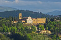 Aerial telephoto view of florence from one of many towers tuscany italy Royalty Free Stock Photography