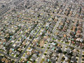Aerial of urban sprawl. Royalty Free Stock Image