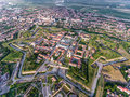 Aerial view of Alba Iulia - Alba Carolina medieval fortress in A Royalty Free Stock Photo