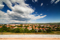 Aerial view of Alba Iulia city Stock Image