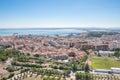 Aerial view of Almada city Royalty Free Stock Photo