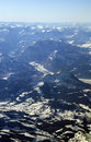 Aerial view on Alps over Zurich Royalty Free Stock Image