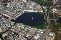 Aerial view of Alster lake at Hamburg Royalty Free Stock Photo